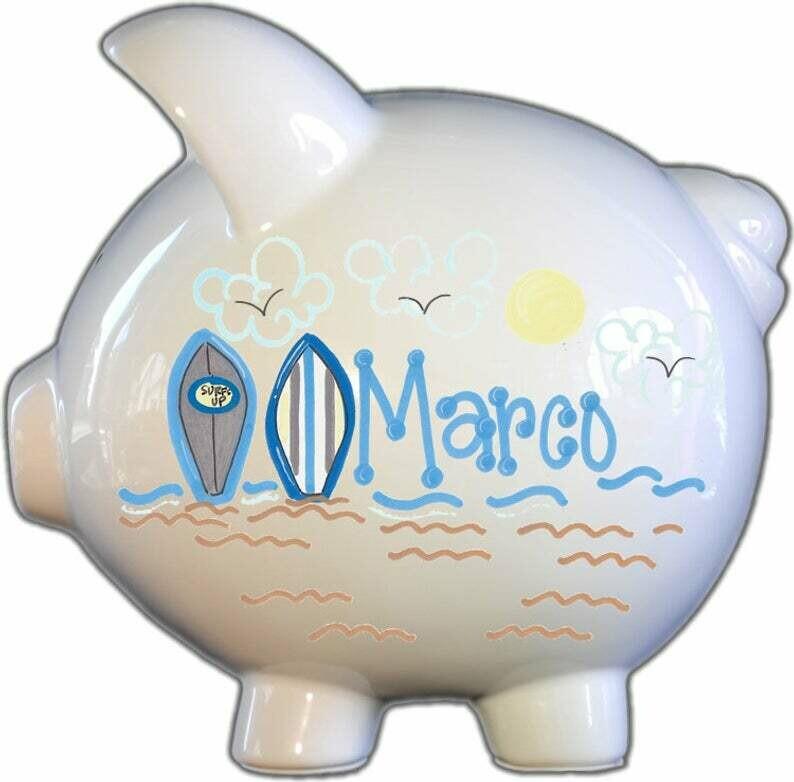 Surfboards Piggy Bank