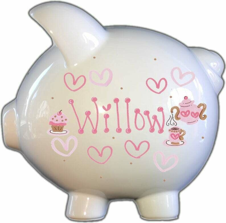 Tea Time Piggy Bank