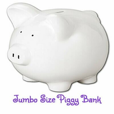 Jumbo Hand-Painted Personalized Piggy Bank