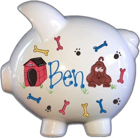 Puppy Dog Design Piggy Bank