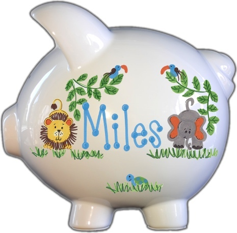 Safari Design Piggy Bank