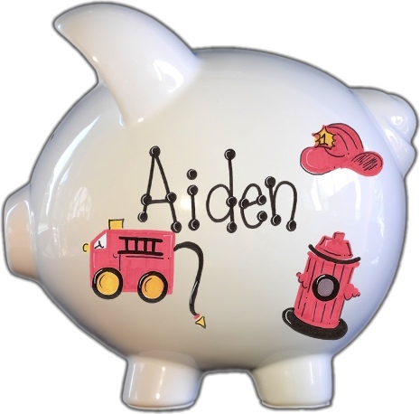 Firetruck Design Piggy Bank