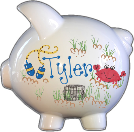 Crabby Design Piggy Bank