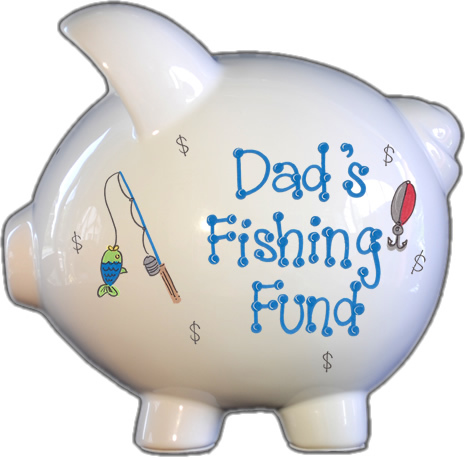 Fishing Fund Piggy Bank