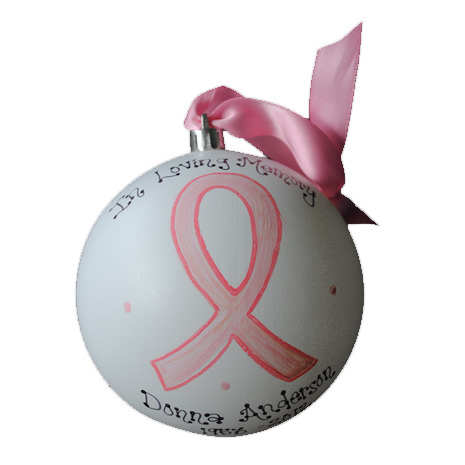 """Hand-Painted Personalized """"In Loving Memory"""" Ornament"""