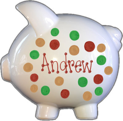 Camo Dots Piggy Bank