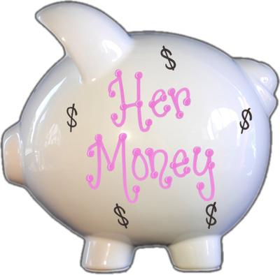 Her Money Piggy Bank