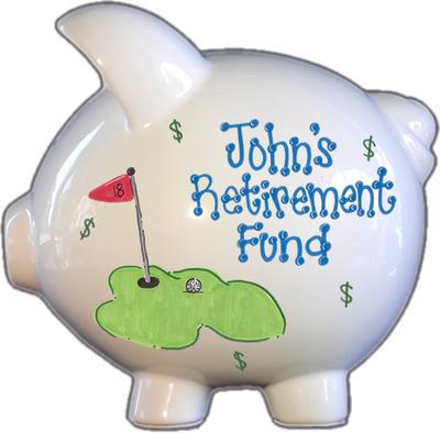 Retirement Fund Piggy Bank