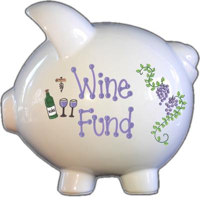 Wine Fund Piggy Bank