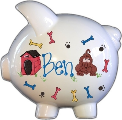 Puppy Dog Design Piggy Bank