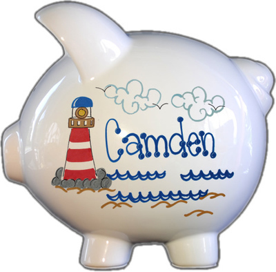 Lighthouse Design Piggy Bank