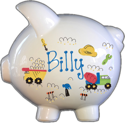 Roadwork Design Piggy Bank