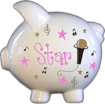 RockStar Design Design Piggy Bank