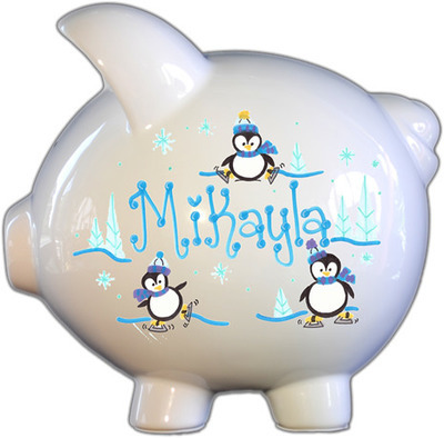 Penguins Design Piggy Bank