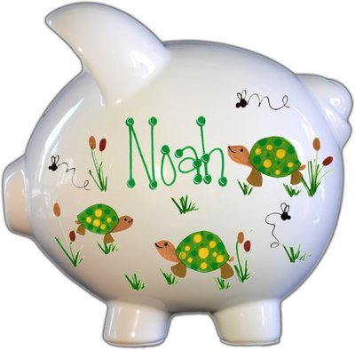 Turtles Design Personalized Piggy Bank
