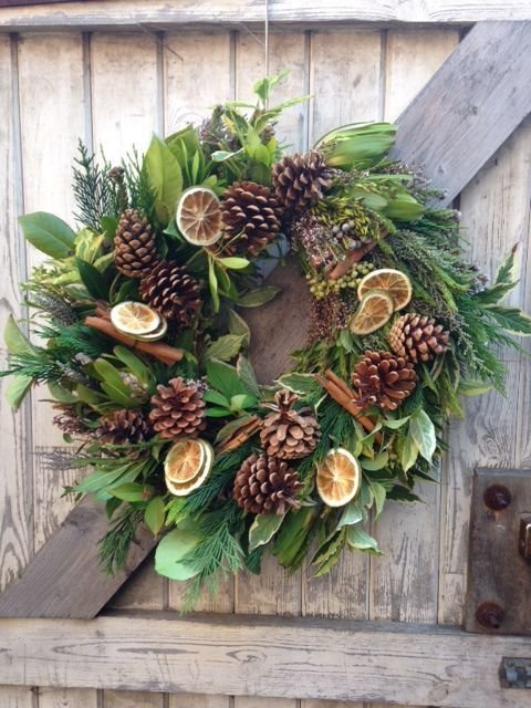 Christmas Door Wreath Workshop - Flower School Blackburn - 29th Novemeber  7.00-8.30pm