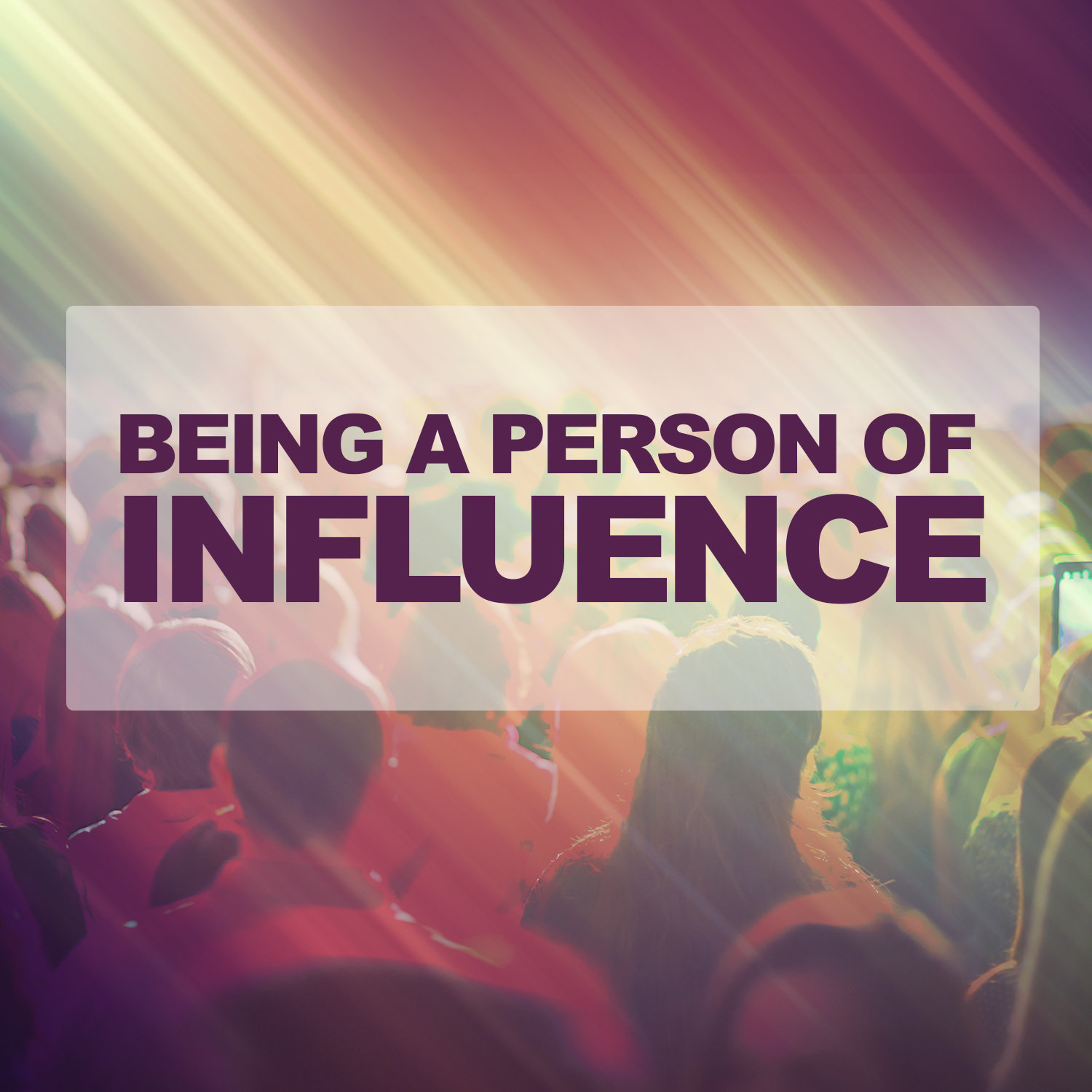 Being A Person of Influence-CD Series CD6050