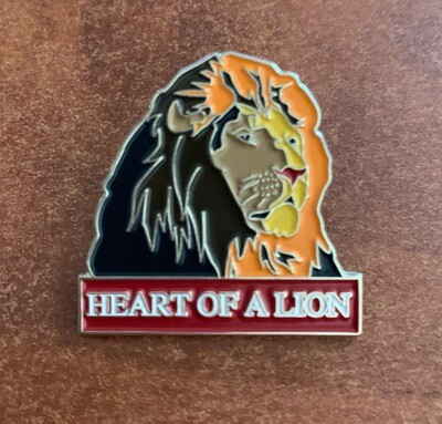 Heart of a Lion Enamel Pin