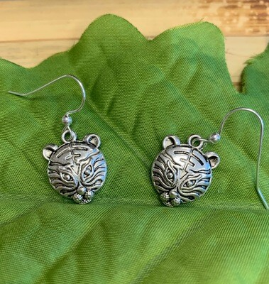Tiger Face Earrings