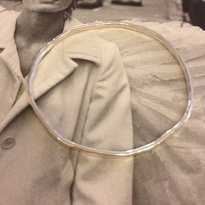 armband zilver gehamerd