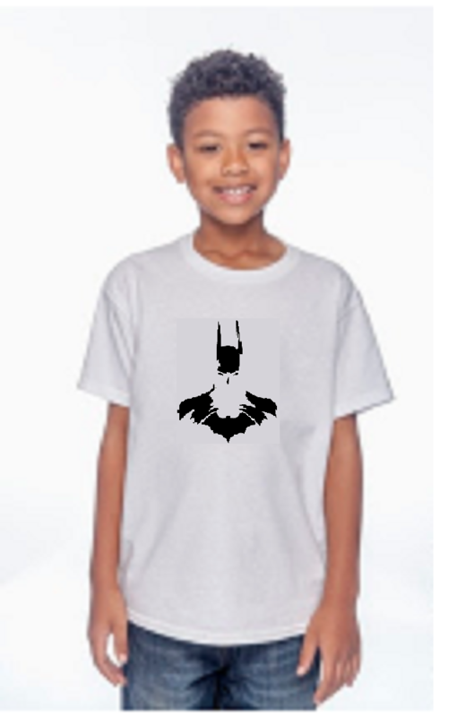 batman Youth Sizes Gildan Heavy Cotton T-Shirt 5.3 OZ