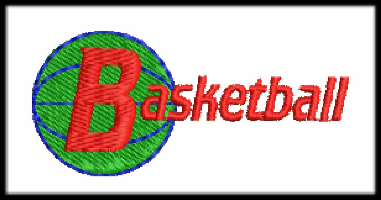 19 Basketball Files Embroidery Digitized Design to Run Machine