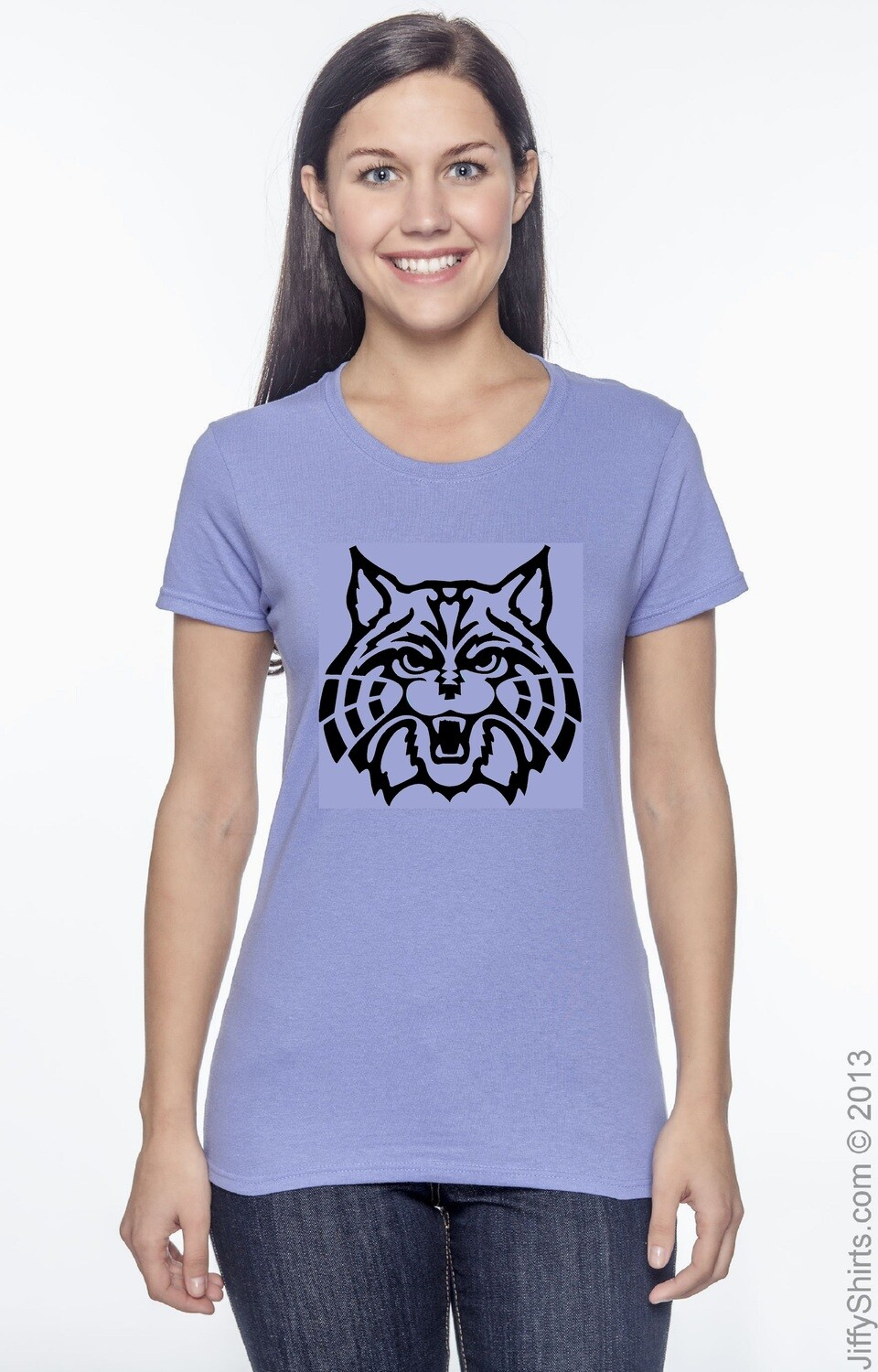 Ladies T-shirt with Cat Design Ready to wear