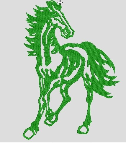 Horse Embroidery file ready to run on embroidery machines