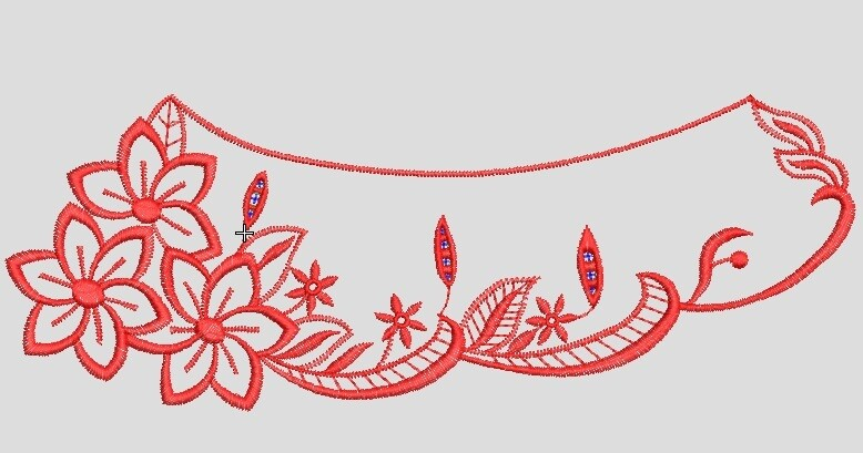 Embroidery file ready to run on embroidery machines