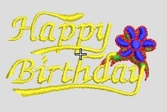2 Files Birthday Embroidery file ready to run on embroidery machines