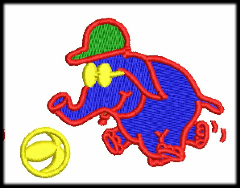 Elephant Embroidery files ready to run on embroidery machines 2 Sizes