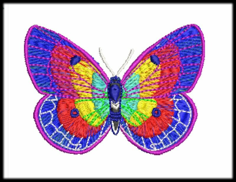 Butterfly file ready to run on embroidery machines