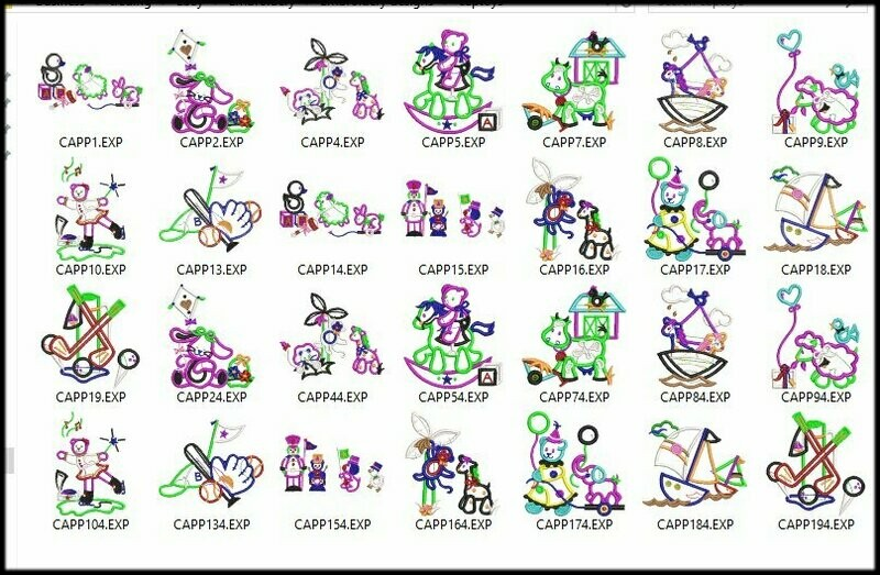28 Toys Embroidery Digitized Stitches Design files format Machine EXP