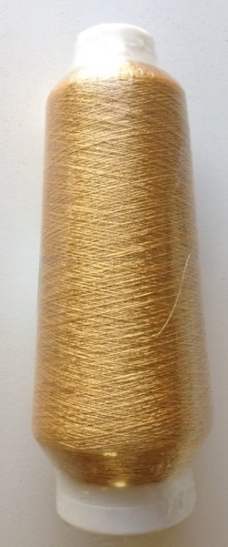 "Embroidery Machine Metallic Yarn Thread large cone 5500 yards and 7"" high"
