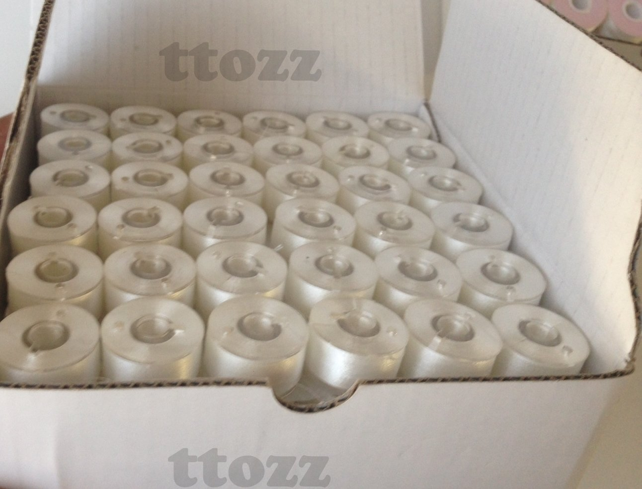 Embroidery Pre-wound Bobbins, Size A, Class 15, Style 15J, SA156,144pcs, 75/D2 Plastic side