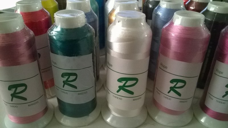 Embroidery Machine Cone Rayon Thread, Large size # 40 many colors 120/2