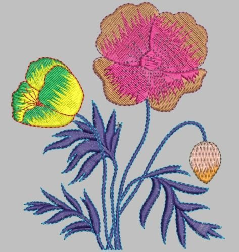 5140 Flower Files Digitized Stitches to Run all Embroidery Machines Format with a program included