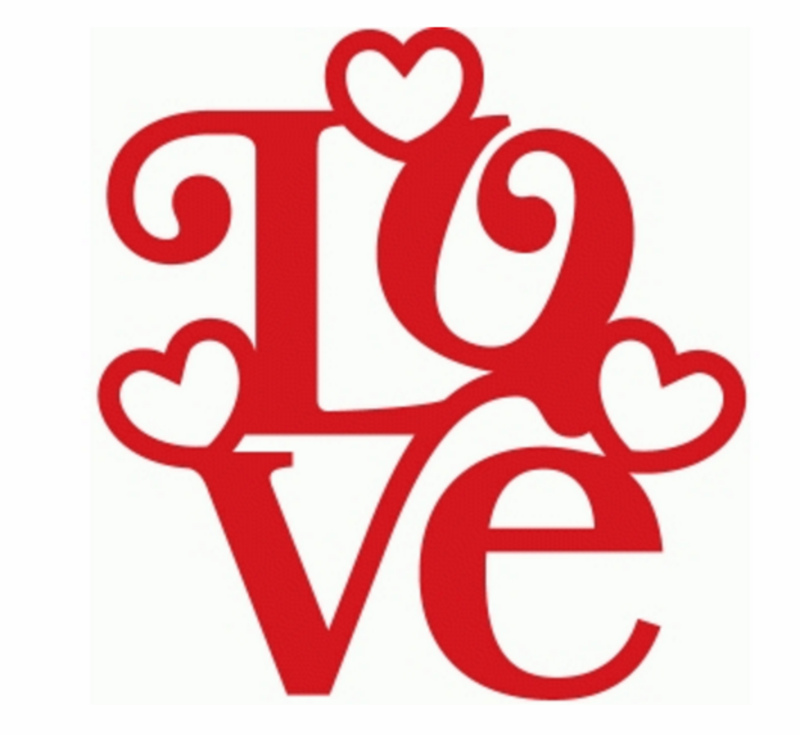 Heat transfer design to Print on fabric Love design