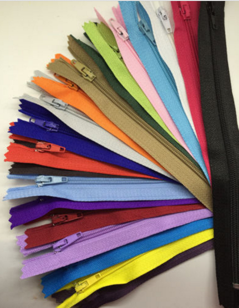 "50 Pcs Zippers size 6"" 8"" 10"" 12"" 14"" 16"" 20"" Nylon Coil Zippers End Closed # 3 (3mm) for Tailor Sewing Craft"