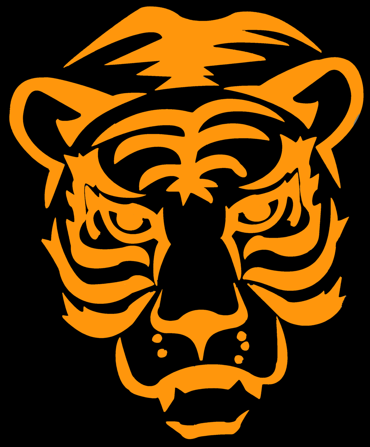 Tiger Black Design Heat Transfer Vinyl ready to put on T-Shirt