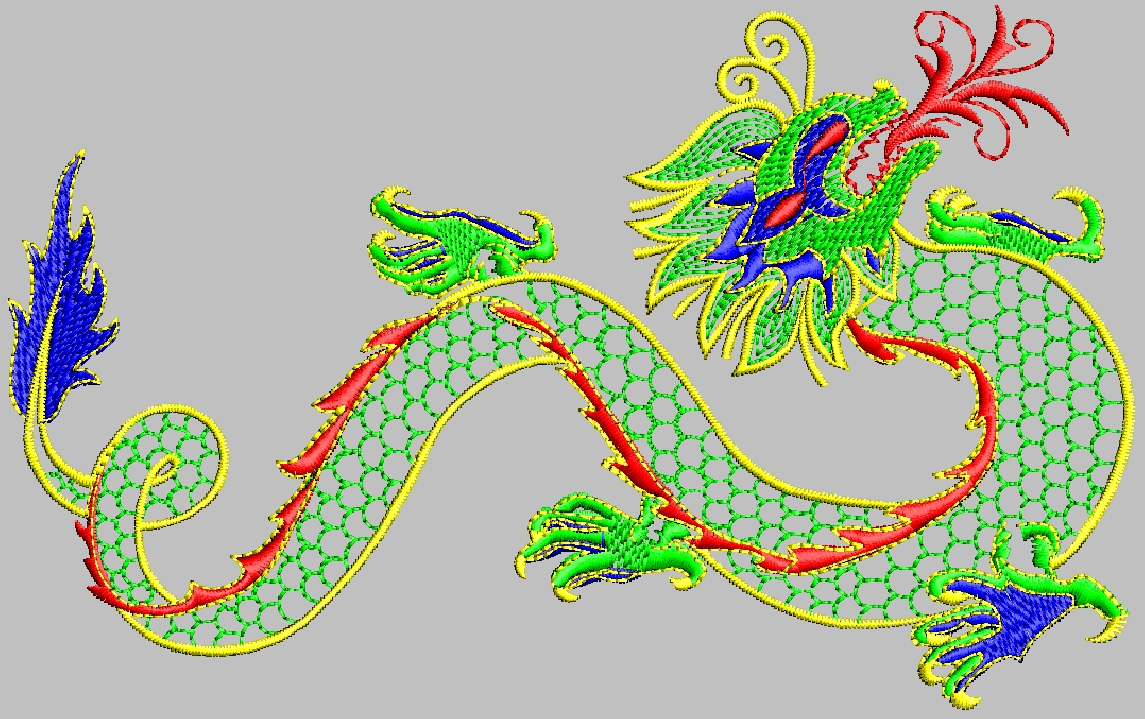 Dragon Digitizing file to run Embroidery machine