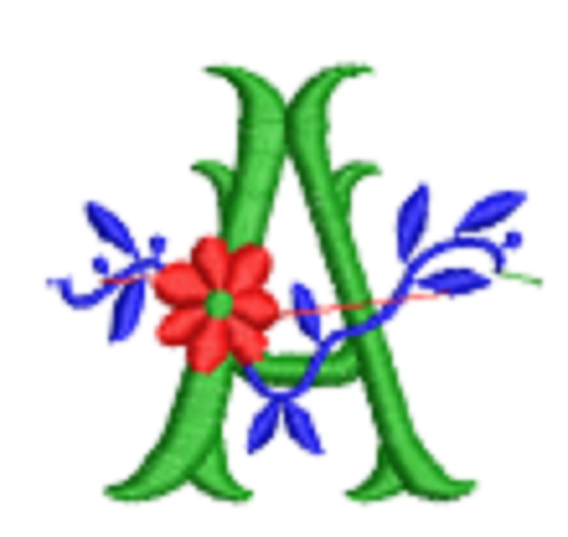 Flower ABC package Digitized Designs to run Embroidery Machines in any Format
