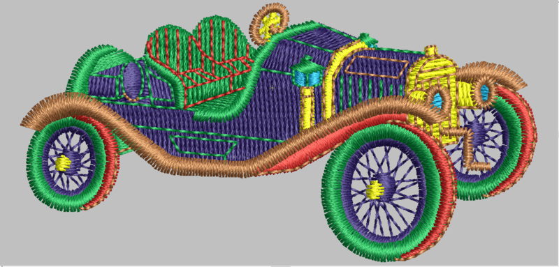 29 Car Digitized Designs File to run Embroidery Machines in any Format