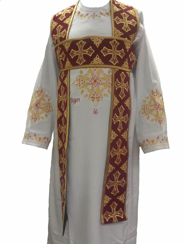 Coptic Church Deacon's Embroidery Stole (SHAMASS Badrsheel)