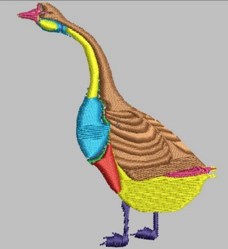 12 Goose Embroidery Files to run on any machine Format