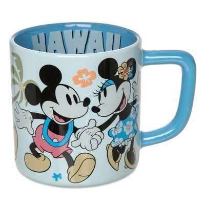 Taza Mickey Minnie Hawaii