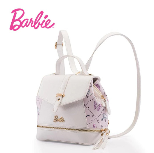 Bolsa Mochila Barbie Blanco Rosa E00