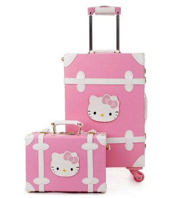 Maleta Hello Kitty Rosa Rojo