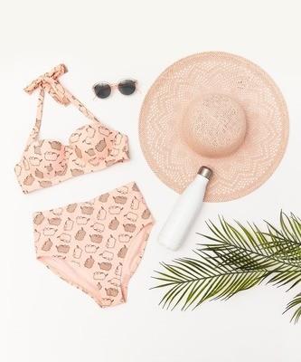 Traje de Baño Pusheen Rosa Bikini