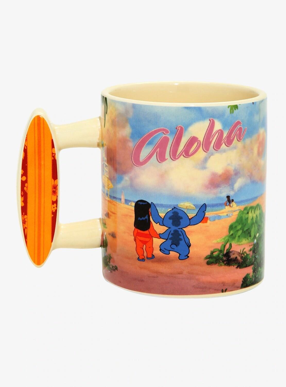 Taza Lilo&Stitch Aloha Surf